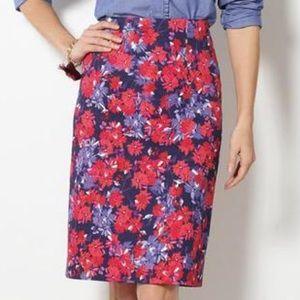 Melanie Plus size pencil skirt summer floral 18W